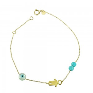 Bracelet  Yellow gold K14  Code 003348
