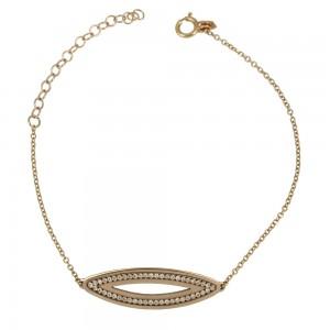 Bracelet Pink gold K14 with diamond Code 004231
