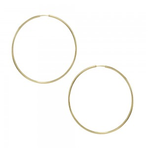 Earring rings Yellow gold K14 Code 004475