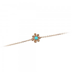 Bracelet for baby girl K14 004714 with turquoise
