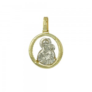 Christian pendant Yellow and white gold K14 Code 005344