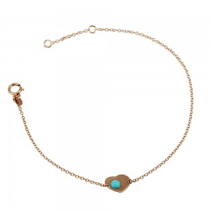 Bracelet for baby girl K14 005374 with turquoise