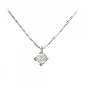 Necklace White gold  K18 with diamond Code 005536
