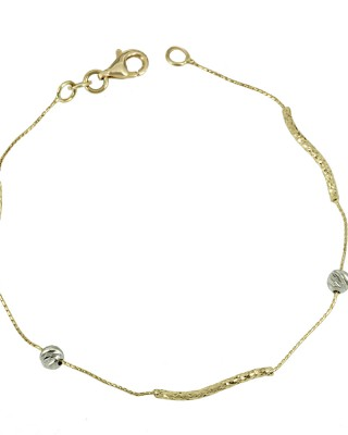 Bracelet  Yellow and white gold K14 Code 005660
