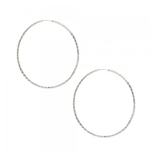 Earring rings White gold K14 Code 005749