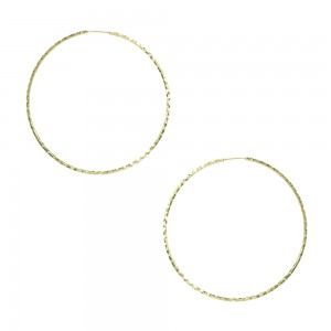 Earring rings Yellow gold K14 Code 005751