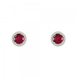 Earrings White gold K14 with semiprecious stones Code 006677