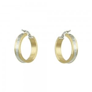Earring rings Yellow and white gold K14 Code 006701