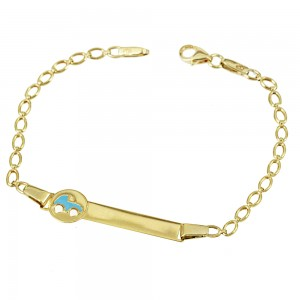 Bracelet for baby boy Car motif  Yellow gold K9 Code 007144
