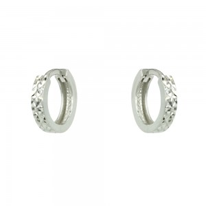 Earring rings White gold K14 Code 007189