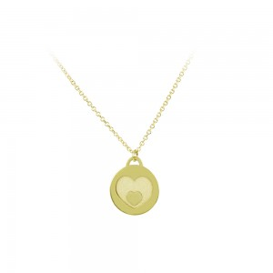 Necklace hearts Yellow gold K14 Code 007305
