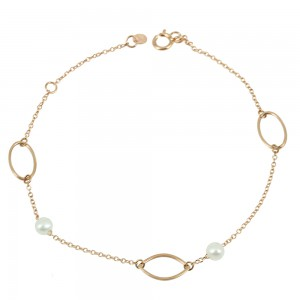 Bracelet  Pink gold K14 with diamonds Code 007315