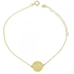 Bracelet Hearts Yellow gold K14 Code 007320