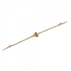 Bracelet Butterfly motif  Yellow gold K9 Code 007327