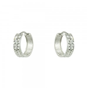 Earring rings White gold K14 Code 007345