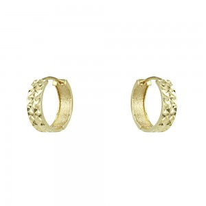 Earring rings Yellow gold K14 Code 007348