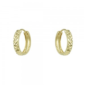 Earring rings Yellow gold K14 Code 007349