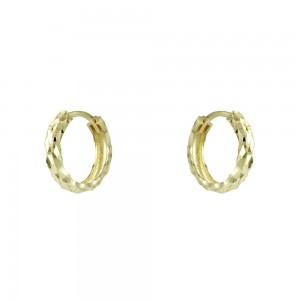 Earring rings Yellow gold K14 Code 007350