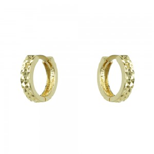 Earring rings Yellow gold K14 Code 007351