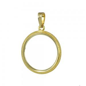 Pound case Yellow gold K14 Code 007358