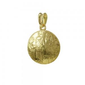 Christian pendant Yellow gold K14 Code 007455
