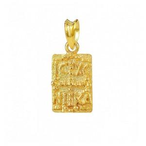 Christian pendant Yellow gold K14 Code 007457