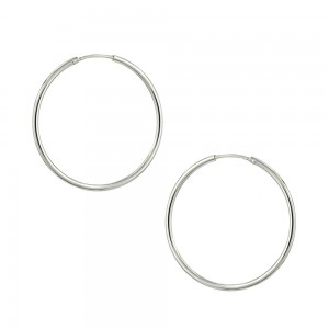 Earring rings White gold K14 Code 007461