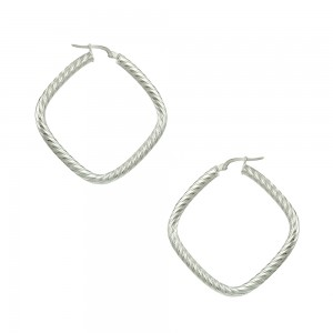 Earring rings White gold K14 Code 007465