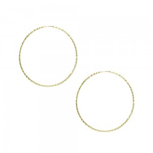 Earring rings Yellow gold K14 Code 007466