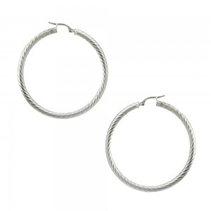 Earring rings White gold K14 Code 007468