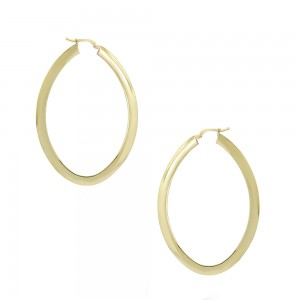 Earring rings Yellow gold K14 Code 007469