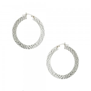 Earring rings White gold K14 Code 007470