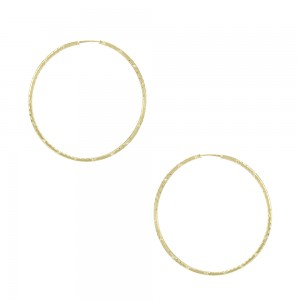 Earring rings Yellow gold K14 Code 007474