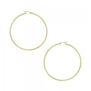 Earring rings Yellow gold K14 Code 007475