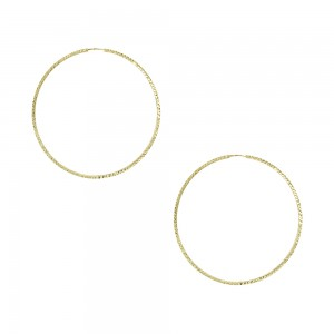 Earring rings Yellow gold K14 Code 007476