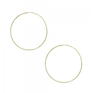 Earring rings Yellow gold K14 Code 007478
