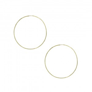 Earring rings Yellow gold K14 Code 007479