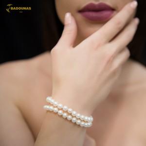 Bracelet White gold K14 Code 007528