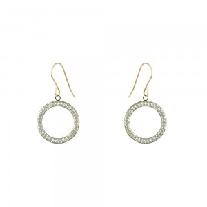 Earring rings White and yellow gold K9 Code 007597