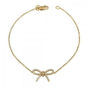 Bracelet Pink gold K14 with semiprecious stones Code 007598