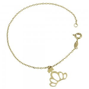 Bracelet Flower Yellow gold K14 Code 007599