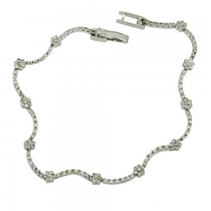 Bracelet  White gold K14 with semiprecious stones Code 007640