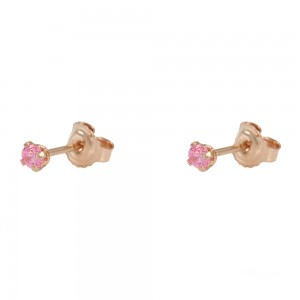 Earrings Pink gold K14 with semiprecious stones Code 007927