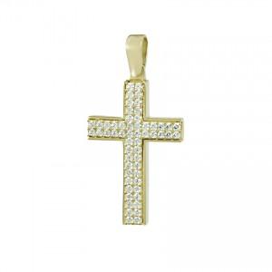 Women's cross Yellow gold K14 Code 008002