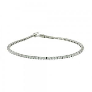 Bracelet Riviera White gold K14 with semiprecious stones Code 008004