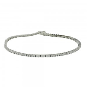 Bracelet Riviera White gold K14 with semiprecious stones Code 008005