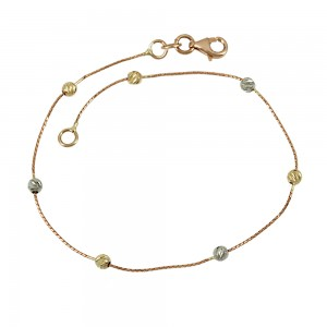 Bracelet  Pink, yellow and white gold K14 Code 008006