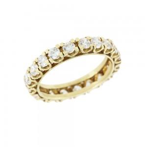 Ring Yellow gold K14 with semiprecious crystals Code 008051