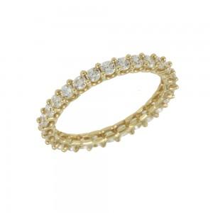 Ring Yellow gold K14 with semiprecious crystals Code 008052