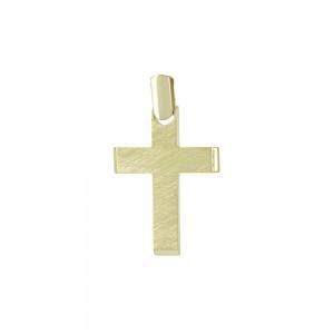 Men's cross Yellow gold K14 Code 008061